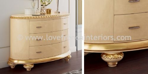 Venezia 3 Drawer Oval Chest